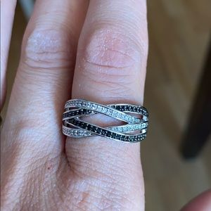 Cubic Zirconia Pavé Crossover Ring Size 9